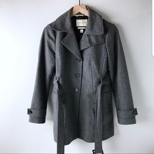Belted Banana Republic Wool Coat Sz S